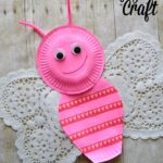 Simple Paper Plate and Doily Butterfly Craft