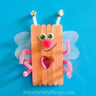 Popsicle Stick Love Bugs Valentine's Day Craft