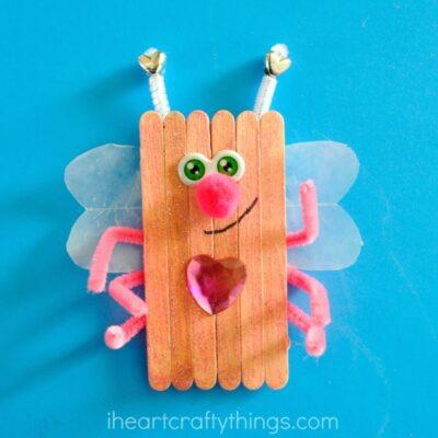 Popsicle Stick Love Bugs Valentine's Day Craft