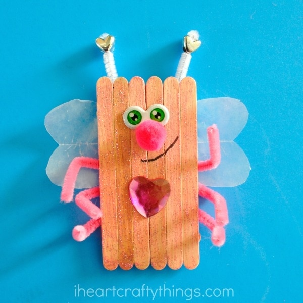 Popsicle Stick Love Bugs Valentine S Day Craft I Heart Crafty Things