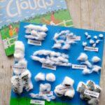 Preschool Cotton Ball Clouds Activity
