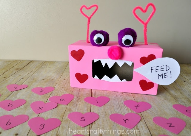 Valentine Monster Alphabet And Sight Word Game I Heart