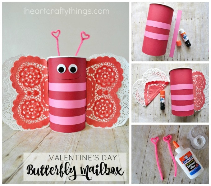 How To Make A Butterfly Valentineu0027s Day Mailbox