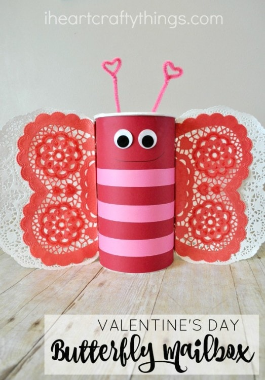 How to Make a Butterfly Valentine\'s Day Mailbox | I Heart Crafty ...