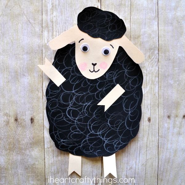 Baa baa black sheep craft i heart crafty things for Cardboard sheep template