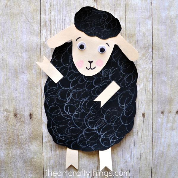 Baa baa black sheep craft i heart crafty things for Cardboard sheep template