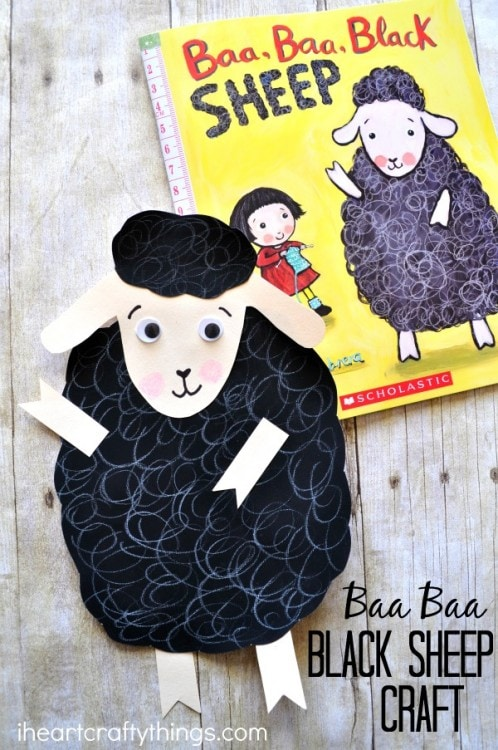 Baa Baa Black Sheep Craft I Heart Crafty Things