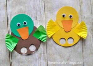 Adorable Duck Finger Puppets