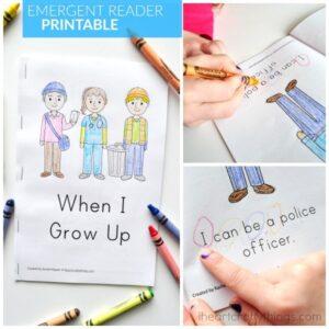 When I Grow Up Preschool Emergent Reader Printable