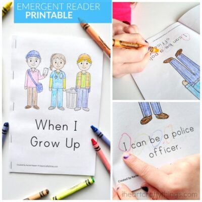 When I Grow Up Preschool Emergent Reader Printable