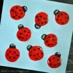 balloon printed ladybug craft for kids
