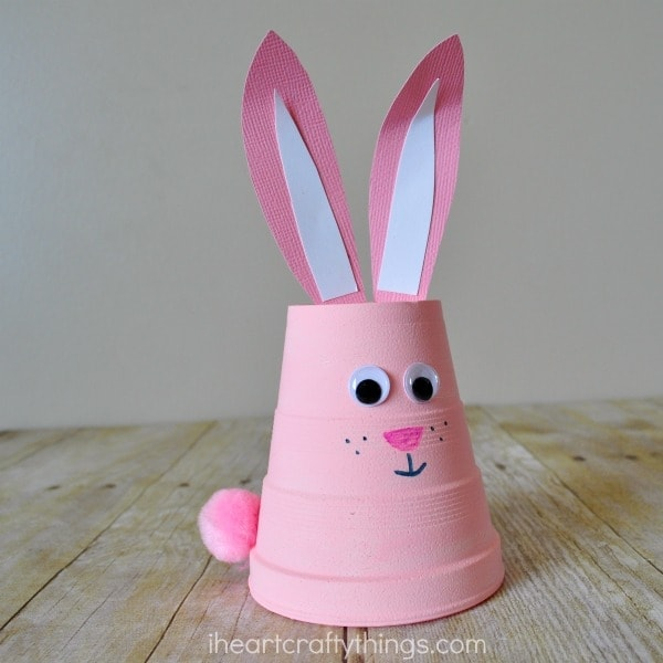 How to Make a Super Cute Foam Cup Bunny Craft