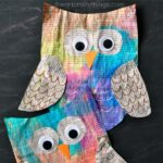 Colorful Newspaper Owl Craft for Kids