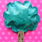 Puffy Newspaper Tree Craft for Earth Day