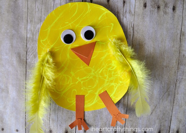 Close up image of the completed chick craft.