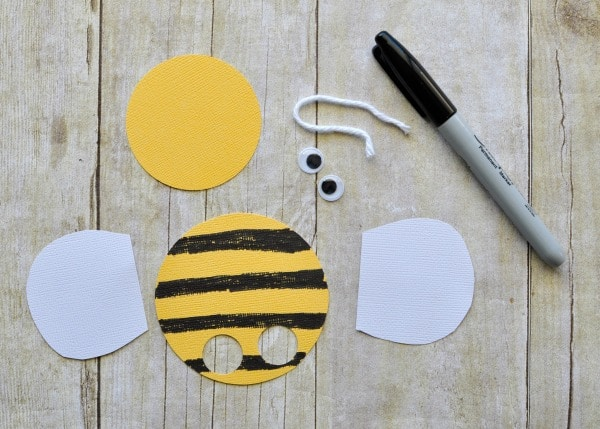 supplies you need to make bee finger puppets