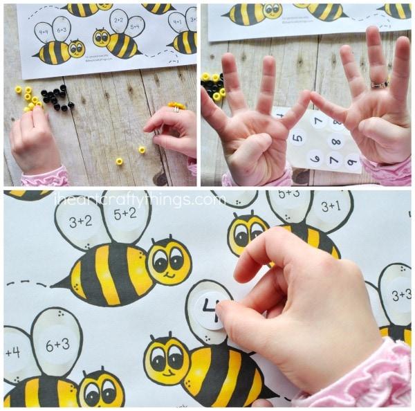 Bumblebee Preschool Math Printable | I Heart Crafty Things