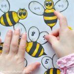 Bumblebee Preschool Math Printable