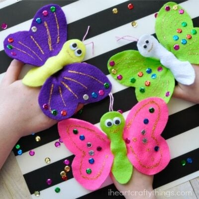 Crafting it Forward with Butterfly Finger Puppets