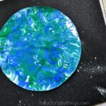 Marbled Art Earth Day Craft for Kids