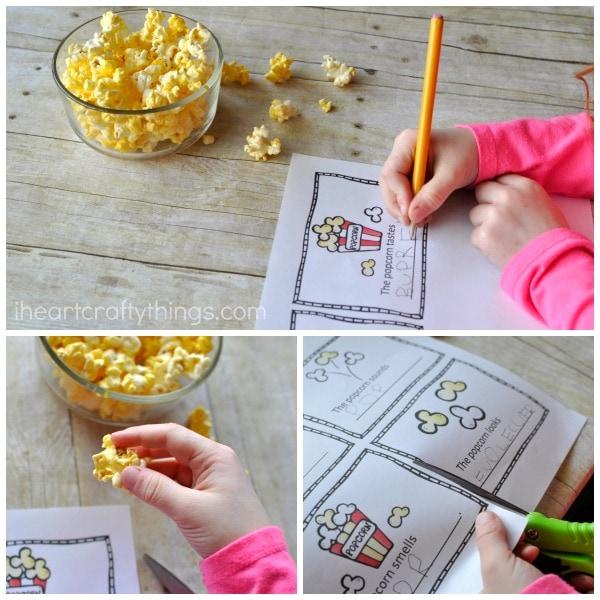 My Five Senses And Popcorn Preschool Observation Mini