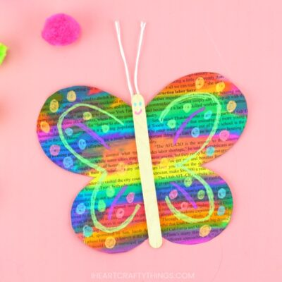 Painted Newspaper Butterfly Craft