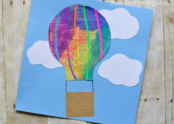 Newspaper Hot Air Balloon Craft For Kids I Heart Crafty Things
