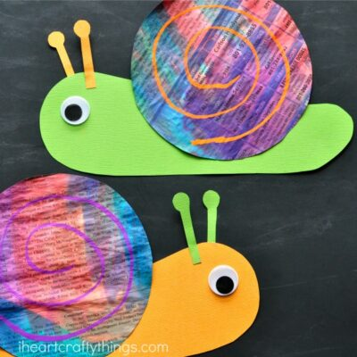 Colorful Newspaper Snail Craft