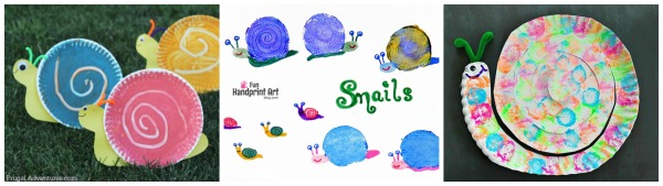 3 snail craft ideas for kids to make