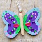 Colorful Wood Peg Doll Butterfly Craft
