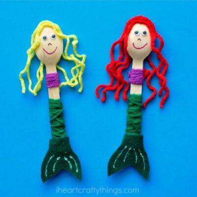 Wooden Spoon Mermaid Craft
