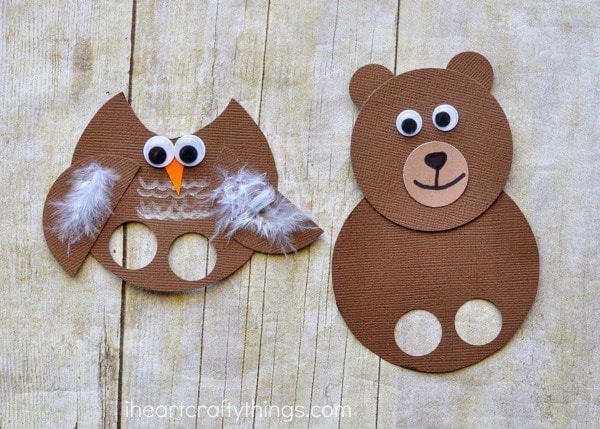 Bears new friend craft bear and owl finger puppets i heart bear owl finger puppets 4 pronofoot35fo Images