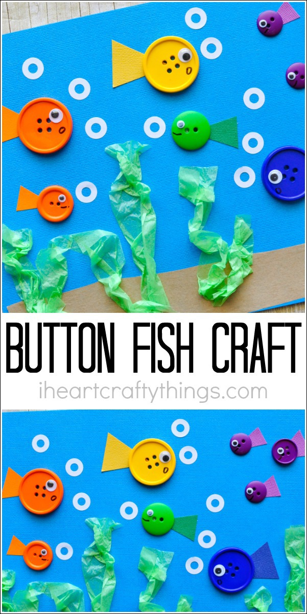 Simple button fish craft for kids i heart crafty things for Art and craft books for kids