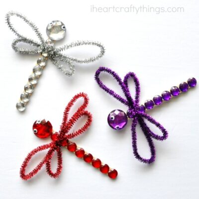 Shimmery Dragonfly Craft for Kids