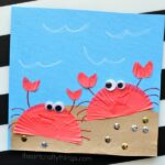 Cupcake Liner Crab Craft for Kids