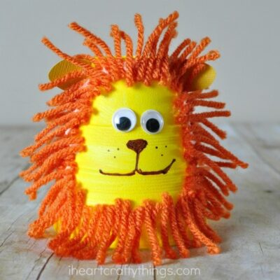Foam Cup Lion Craft for Kids