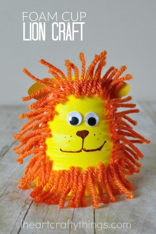 foam-cup-lion-craft
