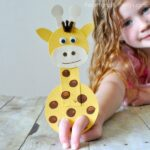 This adorable giraffe finger puppet craft is such a hoot and is so fun for kids to play with. It makes a perfect summer kid craft after visiting the zoo.
