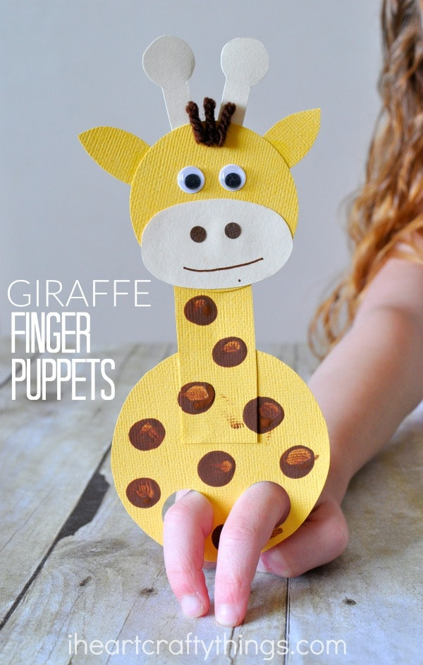 puppets for preschoolers adorable giraffe finger puppet craft i crafty things 825