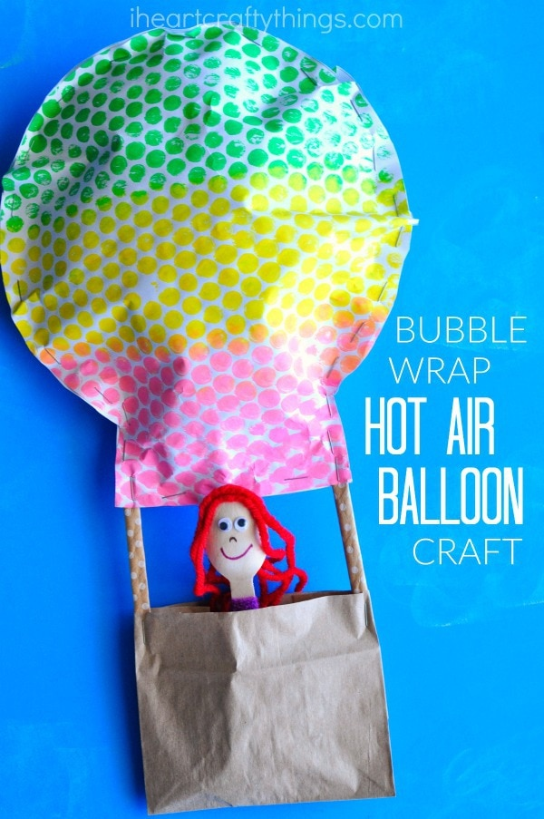 Air Balloon Craft With Kids Picture
