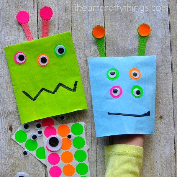 monster puppet craft for kids i heart crafty things