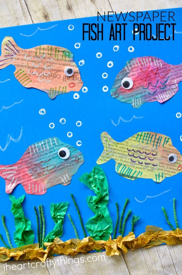 newspaper-fish-art-project