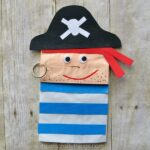 Kids will love making this adorable paper bag pirate craft. Since it is a puppet, your child will have a fabulous time getting to play with their puppet after making it. Great for a summer kids craft or to go along with a fun children's pirate book.