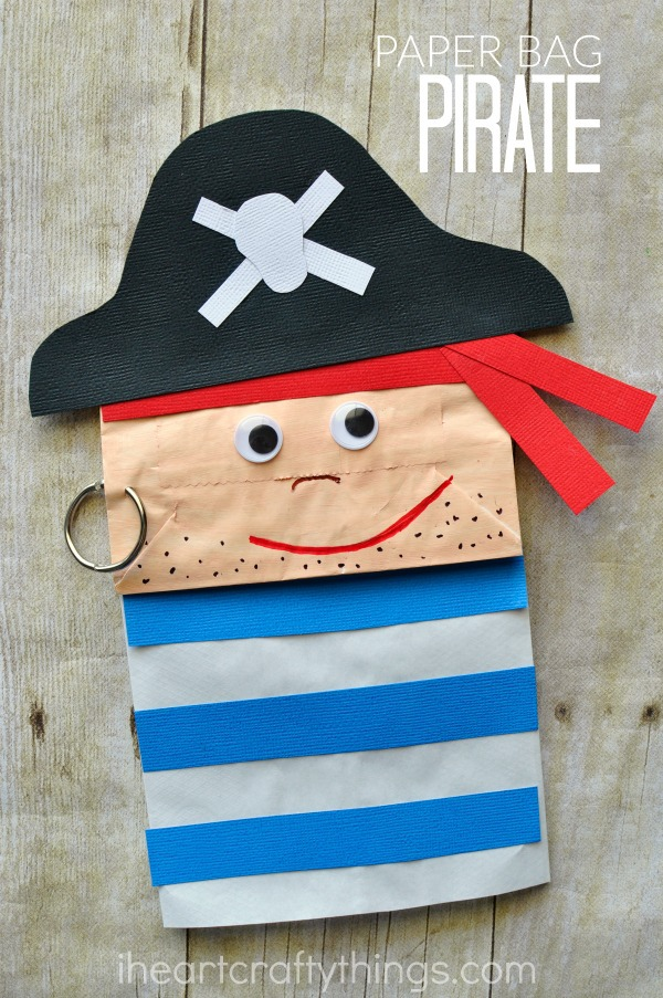 paper bag pirate craft for kids i heart crafty things