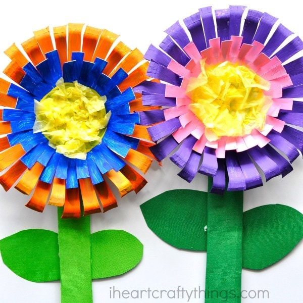Superb Craft Flowers For Kids Part - 3: Bright And Colorful Paper Bowl Flower Craft For Kids, Perfect For A Spring Kids  Craft