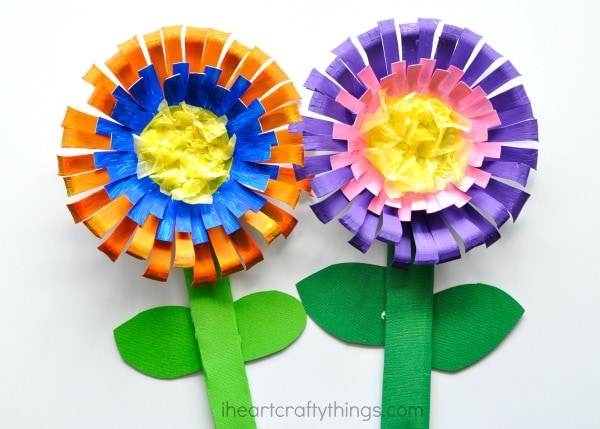 Bright And Colorful Paper Bowl Flower Craft For Kids Perfect A Spring