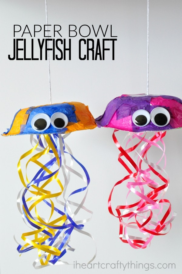 Colorful jellyfish craft for kids i heart crafty things for Good arts and crafts