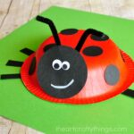 Paper bowl ladybug craft for kids, perfect for a spring kids craft or when learning about insects.