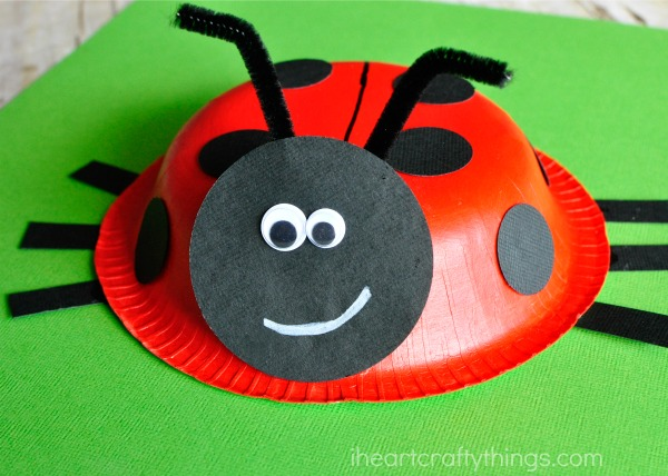 Paper Bowl Ladybug Craft I Heart Crafty Things