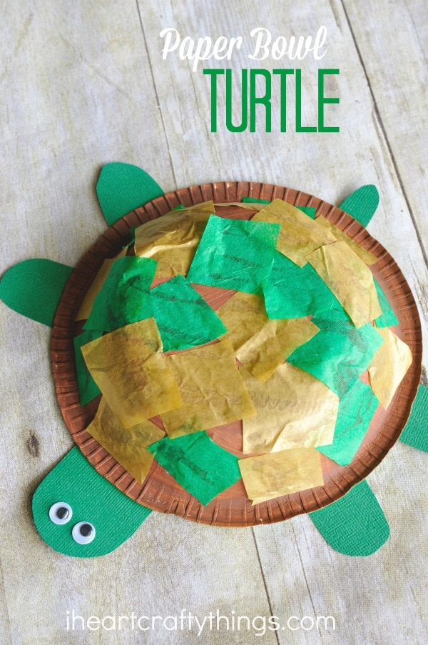 Paper bowl turtle craft for kids i heart crafty things for Art and craft books for kids